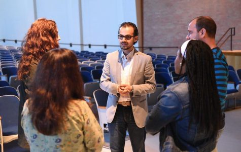 Syrian artist's works, words touch faculty