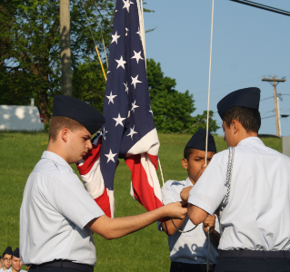 AFJROTC Memorial Day flag ceremony