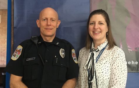 Caitlin Lewis is the new crisis counselor, taking over for Stan Watkins, who retired at the end of last school year. She often works with the school resource officer Rob Morlock of the Danbury Police Department.
