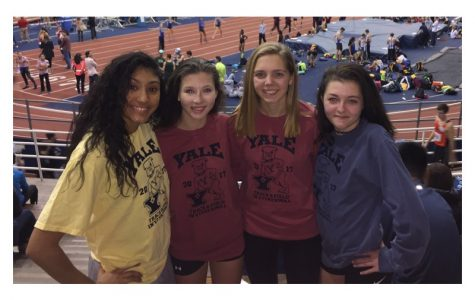 Girls' medley squad has record kick to finish line