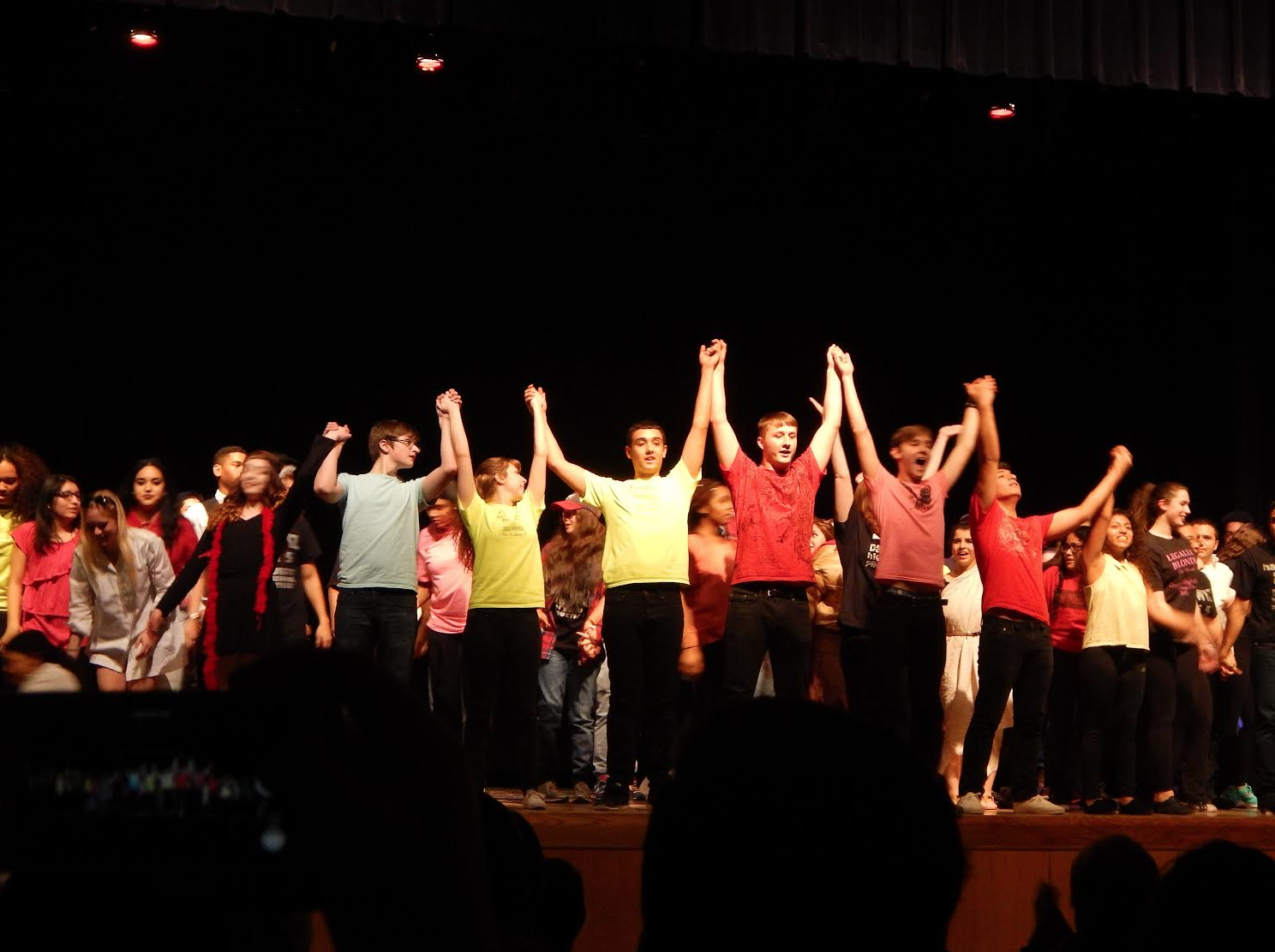 Participants in last year's 'Movement to Music' performance take a bow.