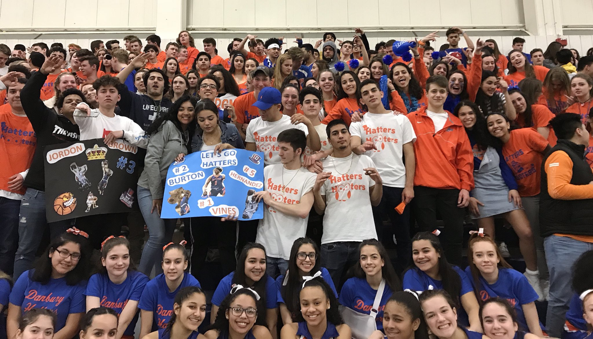 The Hatters Hooters and other Danbury fans have gained a reputation for turning out in boisterous support of DHS teams this year.