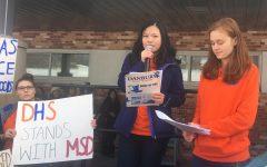 Organizers Gillian Brown, left, and Madison Albano.