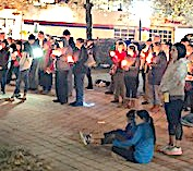 Danbury area residents, including members of the school's National Social Studies Honor Society, gather Nov. 7 at City Center Danbury for a candlelight vigil in remembrance of those killed Oct. 27 in Pittsburgh in the deadliest attack on Jews in U.S. history.