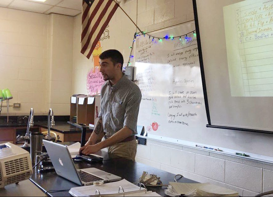 Marchinkoski teaches his A.P. Environmental Science class.