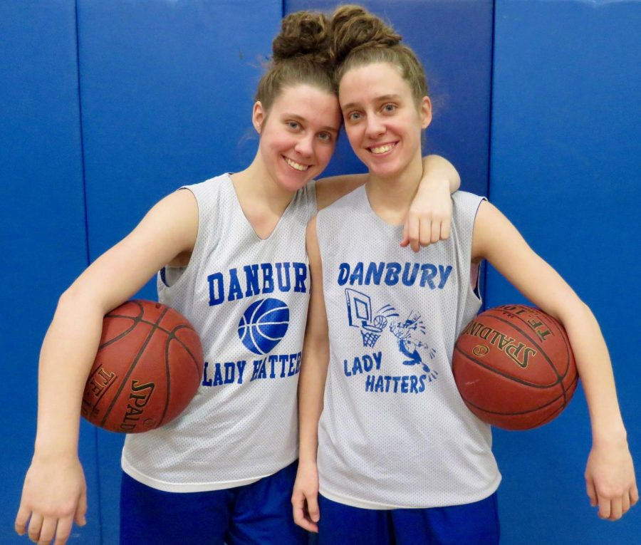 From+left+to+right+-+Captains+Sabrina+Almeida+and+Susana+Almeida+at+a+recent+basketball+practice+after-school.+