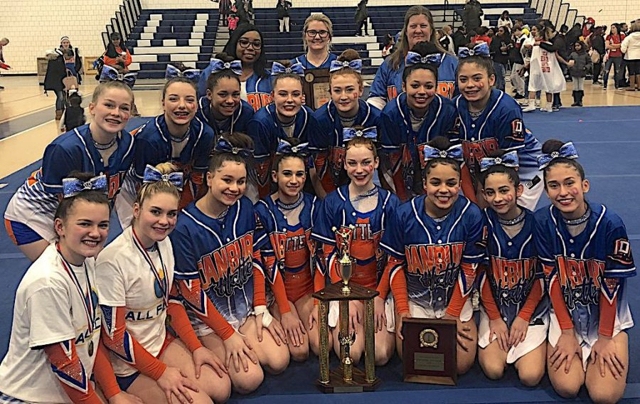 The+cheerleaders+once+again+earned+the+FCIAC+title+on+Feb.+2.++