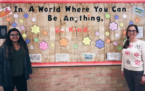 Bulletin board reminds DHS community to be kind to each other