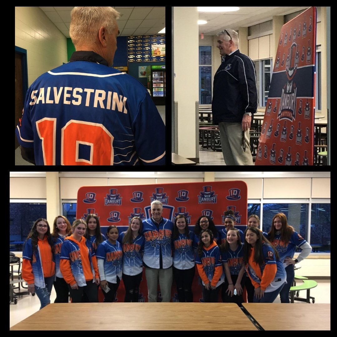 Athletics Director Chip Salvestrini was also honored at the Winter Sports banquet by the powerhouse cheerleading team.