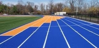 Orange and blue color pattern for the new track!