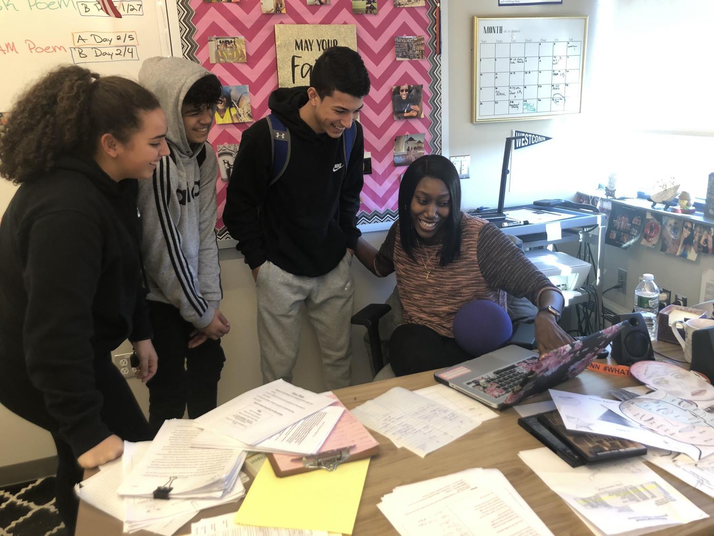Teel in the classroom.