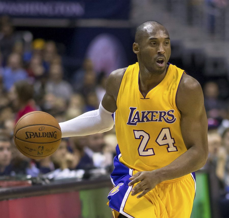 NBA+Star+Kobe+Bryant%2C+shooting+guard+for+the+Los+Angeles+Lakers%2C+is+remembered+after+his+death+on+Jan.+27.