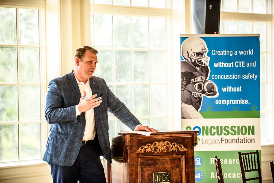 CLF Co-Founder and CEO Christopher Nowinski represents CLF's purpose in spreading awareness about concussions and CTE.