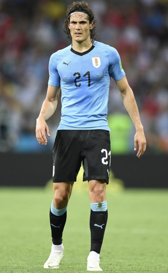 Edison Cavani represents Uruguay at the 2018 Fifa World Cup in Russia