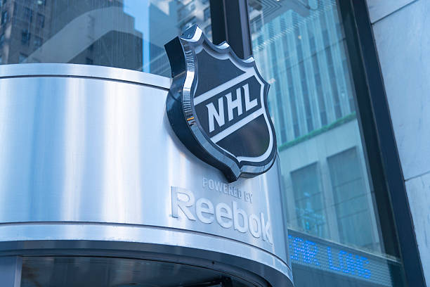 The front of the NHL store. Located on 6th Ave and W46th Street