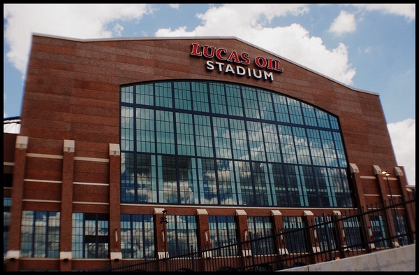 Lucas Oil Stadium in Indianapolis, IN. The Football Stadium will host the Elite 8 and Final Four