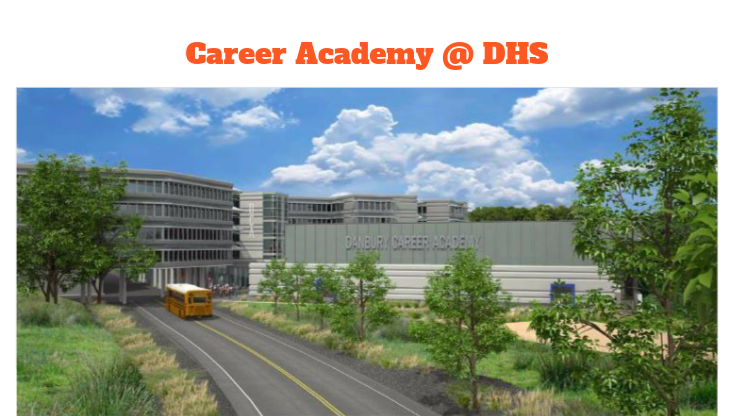 DHS proposes that its entire campus transition to the Career Academy model by 2024, which includes a new satellite campus envisioned above.