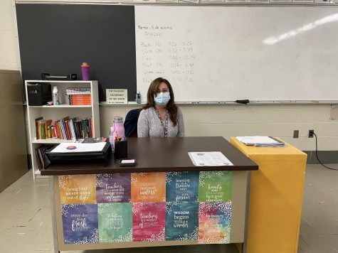 Spanish teacher Ms. Calderon is excited to see her students once again and has high expectations for the year.