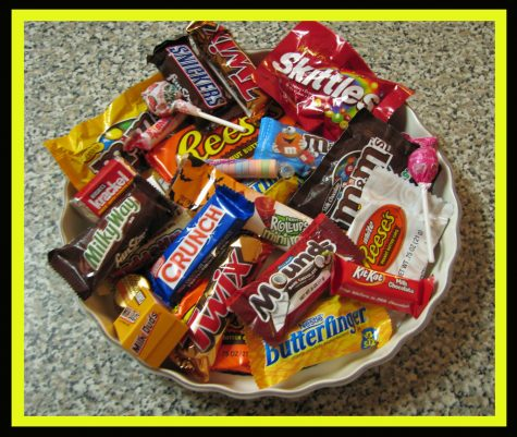 Here is a collection of Halloween candy